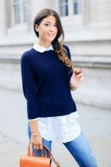 Як носити і як поєднувати светр з сорочкою жінці і чоловікові
