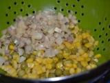 Салат з сиром, шинкою і грибами